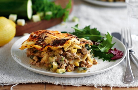 Turkey, spinach and ricotta lasagne