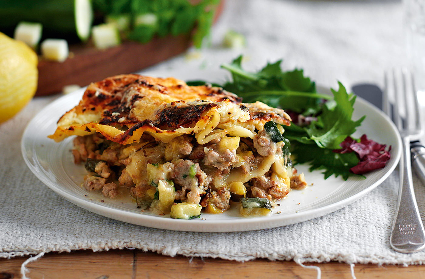 Turkey, spinach and ricotta lasagne recipe