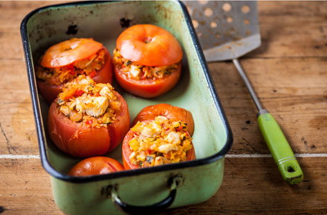 Turkey stuffed tomatoes (t)