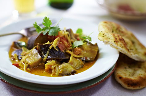 Goan-style aubergine curry  recipe