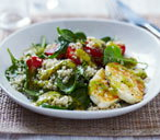 Halloumi and quinoa salad