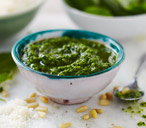 Rocket and spinach pesto