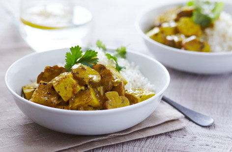 Tofu curry with mushrooms  recipe