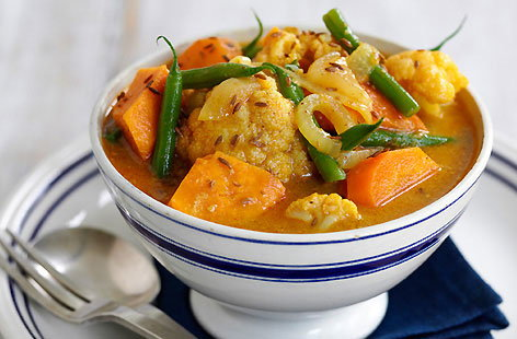 Vegetable and coconut curry recipe