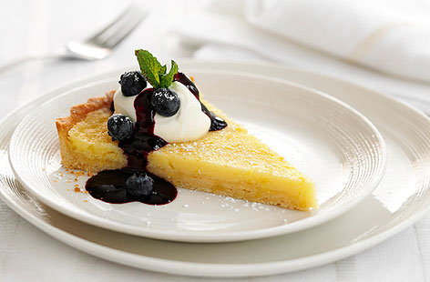 Very Lemony tart & blueberry sauceTHUMB
