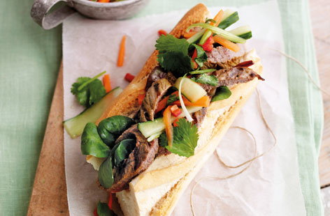 Vietnamese style steak sandwich THUMB