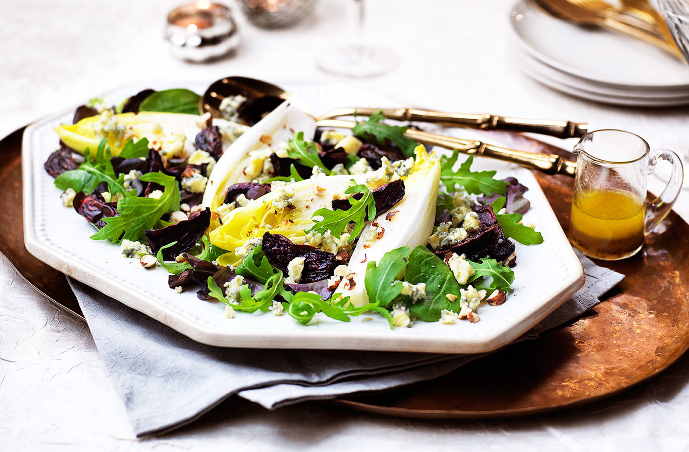 Superb Cold Starter Ideas For A Dinner Party Part - 12: Roasted Beetroot And Stilton Salad With Honey Cider Dressing