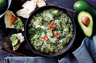 Avocado & spinach dip