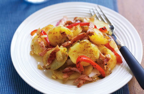 Warm bacon and potato salad HERO