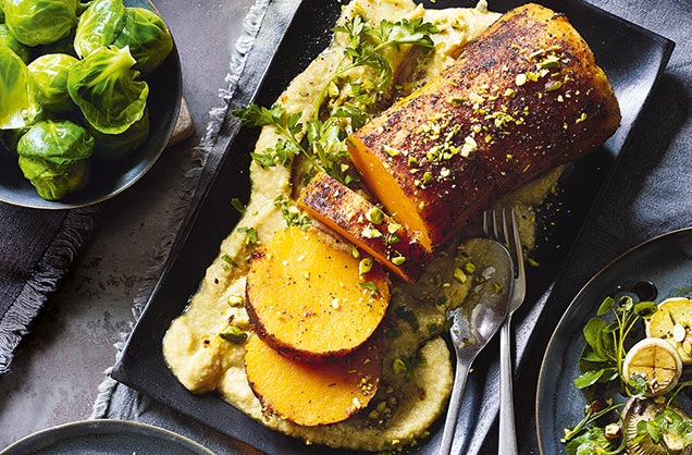 Whole roast peppered butternut squash