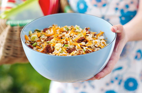 Wild rice and carrot salad HERO
