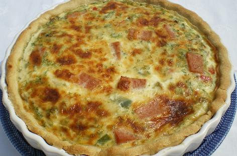 Ham and cheese flan
