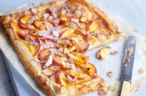 Nectarine and almond tart recipe