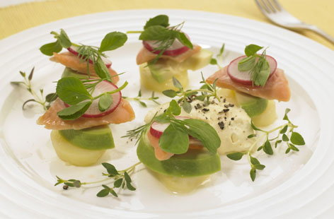jason atherton 39 s smoked trout starter tesco real food
