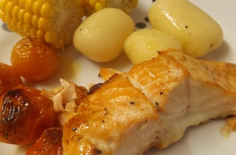 Honey Glazed Fresh Salmon Fillets recipe