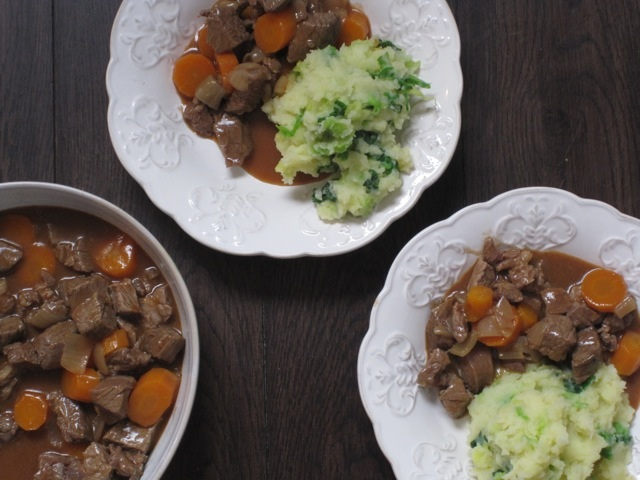 beef stew with colcannon mash