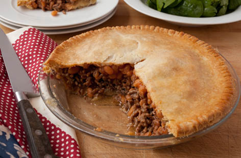 beef and bean pie