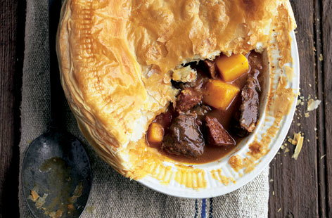 Beef and chorizo pie