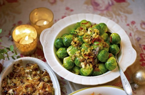 Brussels sprouts with lemon and chilli breadcrumbs
