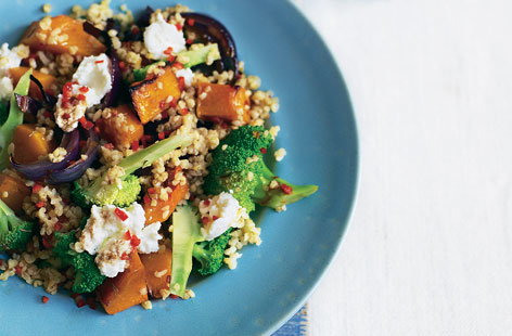 bulgar wheat squash ricotta salad(h)