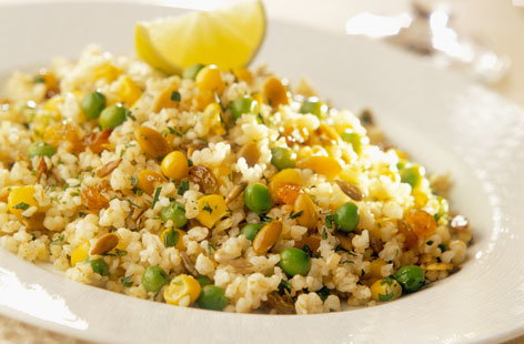 bulghar with peas sweetcorn (h)
