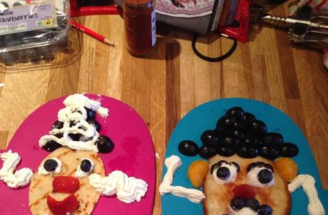 Mr Potato Head Pancakes