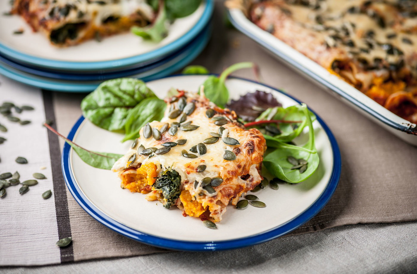 Marcus Wareing's cannelloni with spinach, pumpkin and nutmeg  recipe