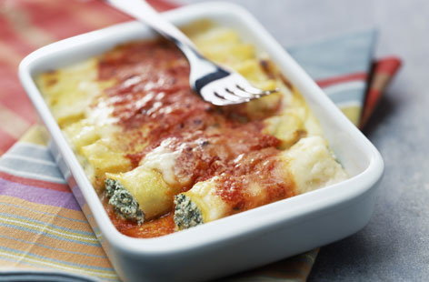 Ricotta and spinach cannelloni