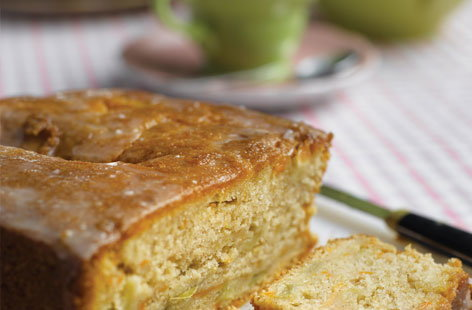 Carrot, apple and lemon drizzle cake