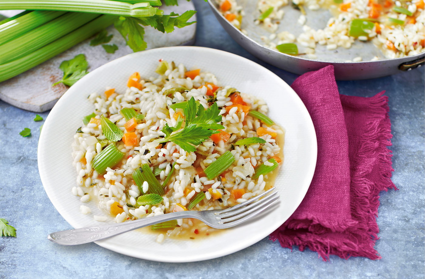 Celery risotto
