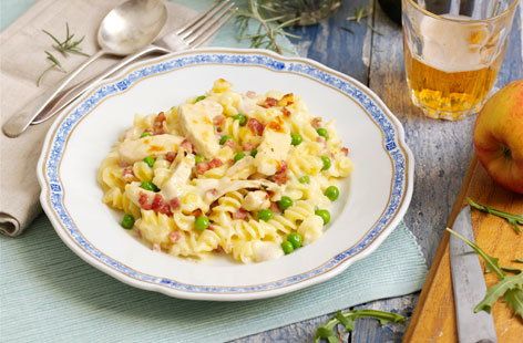 Gluten-free chicken and bacon pasta recipe