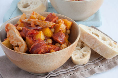 chicken and chorizo stew 1