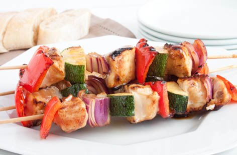 chicken and vegetable kebab 1