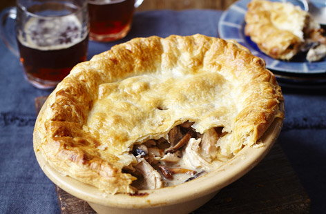finest* chicken and wild mushroom pie