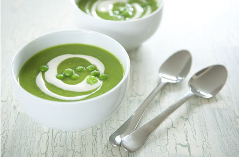 chilled pea mint soup THUMB