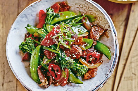 Chinese beef and vegetable stir-fry