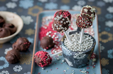 Colin McGurran's chocolate truffle lollipops