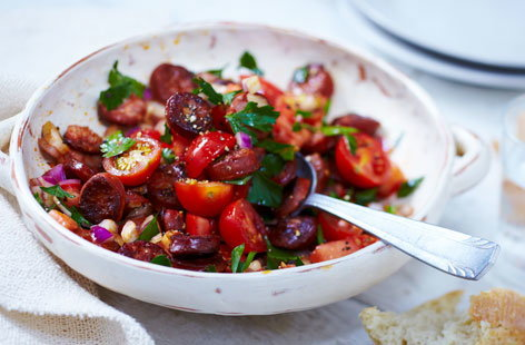 chorizo salad hero