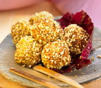 Corn and sesame seed boulettes