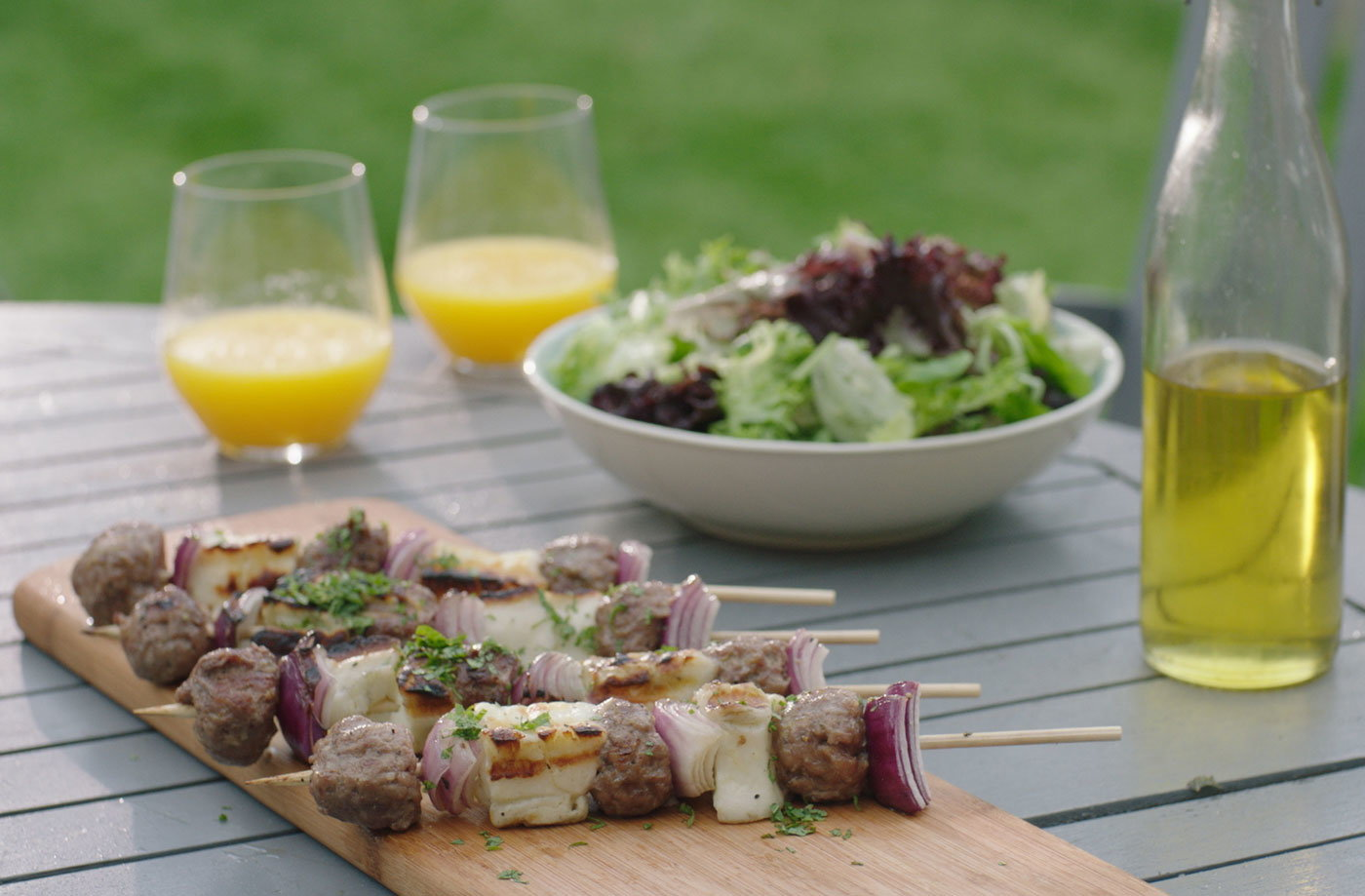 Lamb and halloumi kebabs  recipe