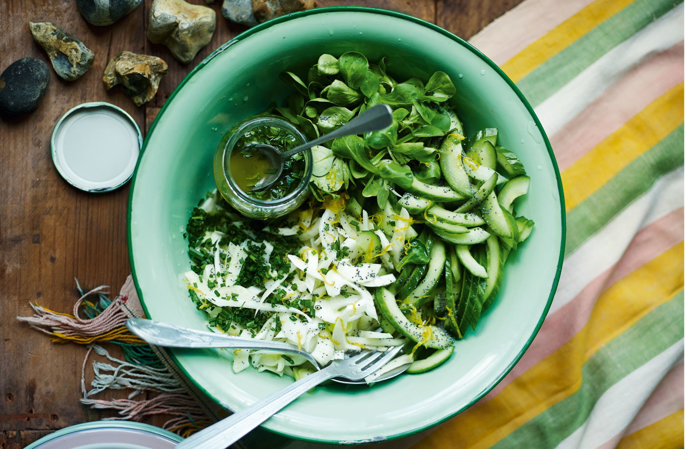 Cucumber, fennel and parsley salad recipe