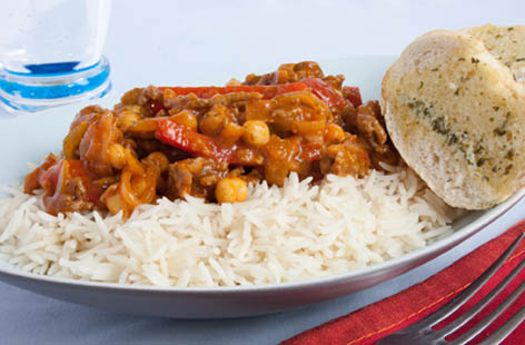 curried mince beef with chickpeas 1