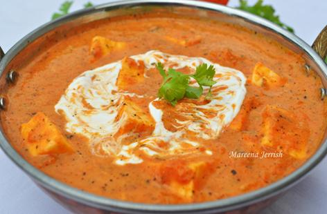 Paneer Makhani (Butter Cottage Cheese Curry)