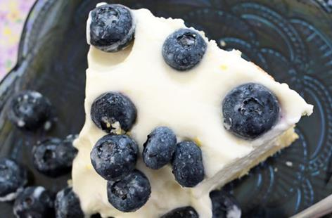 Quick blueberry cheese cake