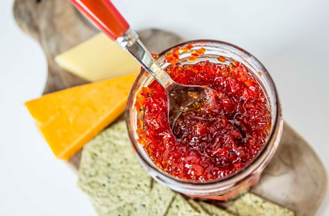 Red pepper and chilli jam