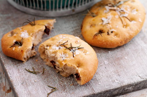 Mini rosemary and sundried tomato focaccia