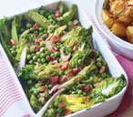 French peas with bacon