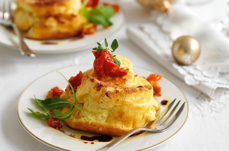 Twice-baked goat's cheese soufflés | Tesco Real Food