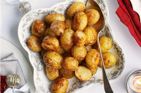 Goose fat roasted new potatoes  recipe
