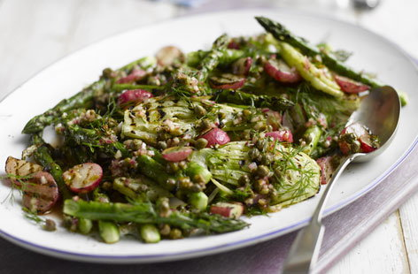 grilled radishes, fennel and asparagus salad THUMB